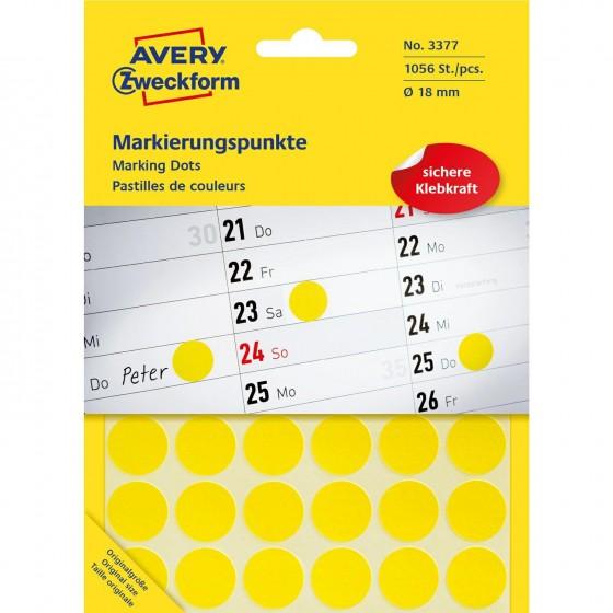 Etykieta ZF Q18mm żółte...
