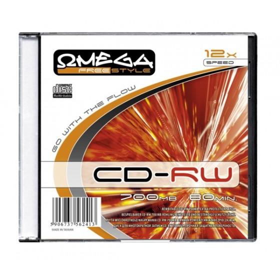 PŁYTA CD-RW 700MB SLIM OMEGA