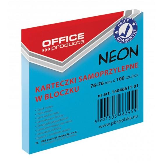 NOTES SAMOPRZYLEPNY OFFICE PRODUCTS 76X76 NEON