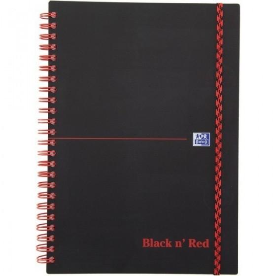 KOŁOZESZYT OXFORD BLACK N&039 RED A5/70K KRATKA
