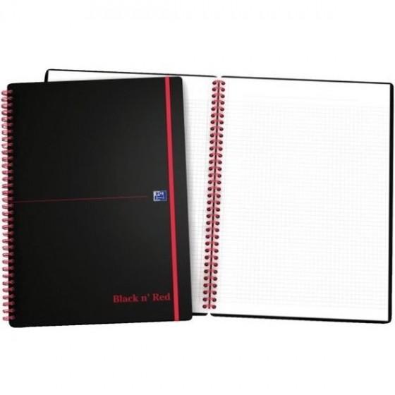 KOŁOZESZYT OXFORD BLACK N&039 RED A4/70K KRATKA
