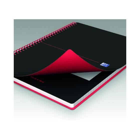 KOŁOZESZYT OXFORD BLACK N&039 RED A5/70K LINIA