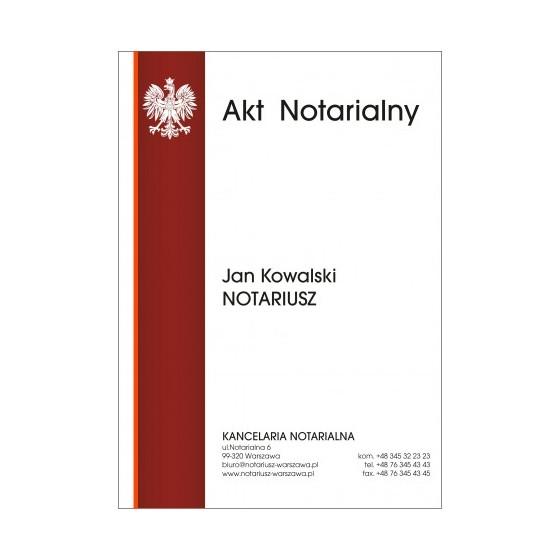 Teczka Akt Notarialny 350g BT03