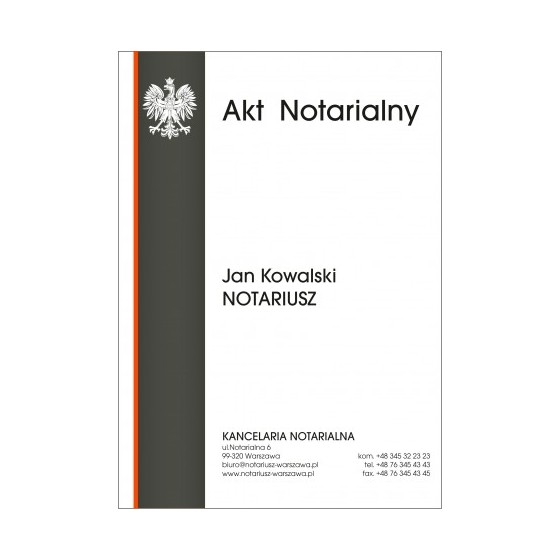 Teczka Akt Notarialny 350g...